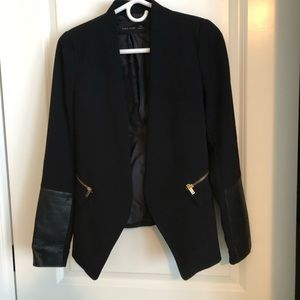 Zara Blazer with Leather Detail